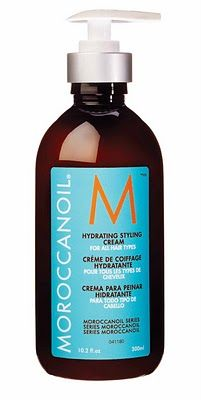 Morrocan Oil hydrating styling cream! This is the best product I have used on my hair in a long time! I use it every time I blow dry or heat style and have little to no damage!