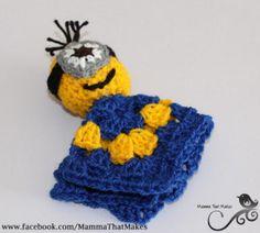 Crochet Minion Mini Snug Blanket Free Pattern: Mamma That Makes Crochet Afghans, Crochet Lovey, Manta Crochet, Crochet Dolls, Free Crochet, Knit Crochet, Minion Crochet Patterns, Minion Pattern, Knitting Patterns