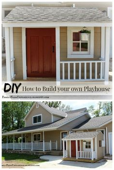 Complete Instructions--from framing to rafters--for building a Playhouse #diyplayhouse