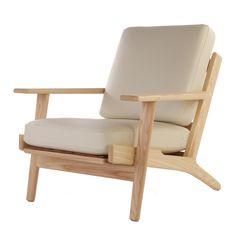 The Matt Blatt Replica Hans Wegner Plank Armchair - Leather - Matt Blatt