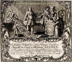 Trade card - Georgian Era wallpaper shop