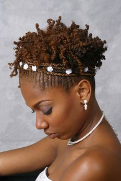 Bride. Natural Hair. Side view. This is for you Vonda