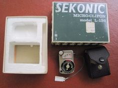 Sekonic-Micro-Clipon-Light-Meter-Model-L-136-with-Box-and-Case