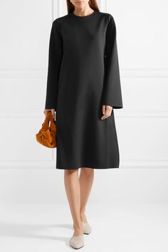 The Row - Elmi stretch-scuba dress Scuba Dress, Kenneth Jay Lane, The Row, Stretches, Duster Coat, High Neck Dress, Sleeves, How To Wear, Jackets