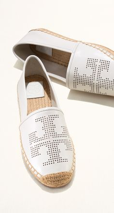 Tory Burch Perforated Logo Espadrille