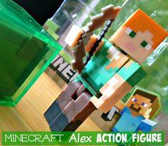 Alex Minecrat Action Figure #Minecraft #Toys - this is from the Series 3 Minecraft action figure series. Fully articulated Alex #actionfigure
