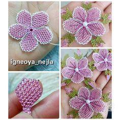 Needle Tatting Patterns, Embroidery Stitches, Brazilian Embroidery, Make Photo, Needle Lace, Embroidery Jewelry, Macrame Jewelry, Crochet Crafts, Crochet Stitches
