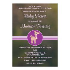 Hunting Funny Camouflage Green Pink Baby Shower Personalized Invitation