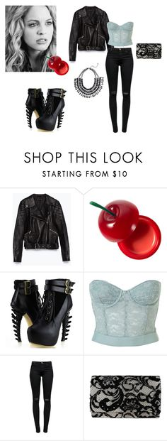 """""""Erica Reyes"""" by littlearb ❤ liked on Polyvore featuring Zara, Reyes, Tony Moly, J Brand and Nina"""