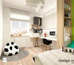 DOM W JÓZEFOSŁAWIU - Średni pokój dziecka dla chłopca dla ucznia dla nastolatka, styl nowoczesny - zdjęcie od design me too