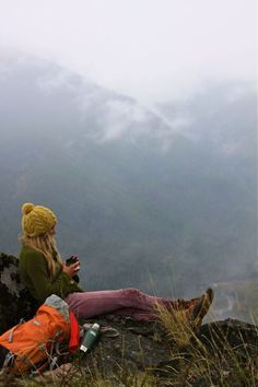 I wanna chill on a mountain with tea..