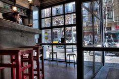 Marzua: DissenyaDos da forma a Garage Beer Co., una fábrica de cerveza artesanal instalada en un garaje Industrial, Windows, Blog, Shape, Craft Beer, Garage, Architecture, Interiors, Industrial Music