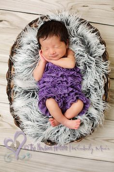 Purple Petti romper great for a photography prop by IzzysAttic