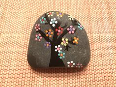 Happy Tree Painted Rock