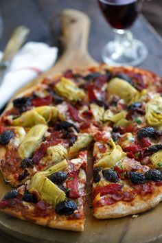 Antipasto pizza.