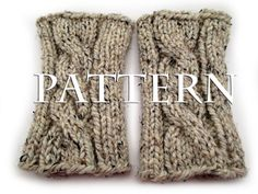 #bromefields - Cable Knit Boot Cuff Pattern - $3.00