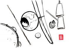 Encres : Capoeira – 469 « Berimbau » [ #capoeira #watercolor #illustration]