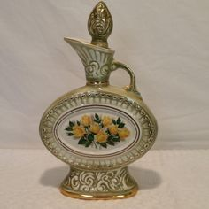 1969 Jim Beam Executive Series Yellow Rose Decanter - Antique Finish - Vintage | eBay