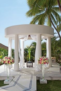 "The stunning wedding gazebo at Sunscape Dorado Pacifico, the perfect spot to say ""I Do""."