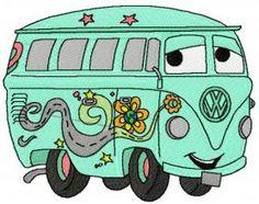 Fillmore volkswagen bus 2 machine embroidery design. Machine embroidery design. www.embroideres.com