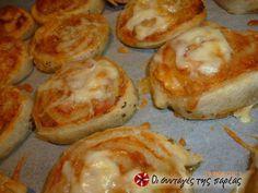 Πανεύκολα πιτσάκια ρολό φωτογραφία βήματος 7 Baked Potato, Muffin, Pizza, Potatoes, Baking, Breakfast, Ethnic Recipes, Rolo, Morning Coffee