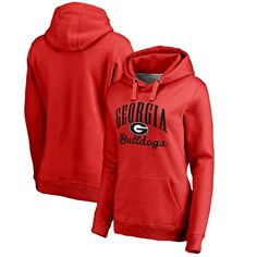 Georgia Bulldogs Fanatics Branded Women's Plus Sizes Victory Script Pullover Hoodie - Red
