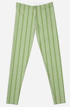 'Green Swirl Pattern Clothing' Leggings by Swirl Pattern, Best Leggings, Selling Online, Printed Leggings, Sell Your Art, Clothing Patterns, Knitted Fabric, Prints, Stuff To Buy
