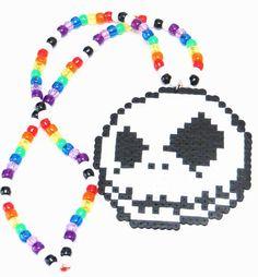 Jack the Skeleton Kandi Necklace