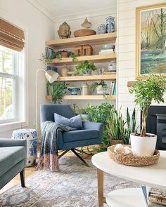 Home Living Room, Farm House Living Room, Interior, Blue Living Room, Beach House Living Room, Boho Living Room, Home Decor, Coastal Living Rooms, Cottage Living Rooms