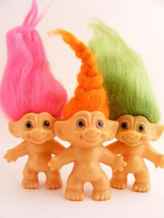 Troll Dolls one of my favorite childhood toys . My Childhood Memories, Best Memories, Childhood Toys, Nostalgia, How To Make Clothes, Making Clothes, Troll Dolls, I Remember When, Oldies But Goodies