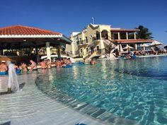 Pool during the day at secrets Capri resort in Riviera Maya