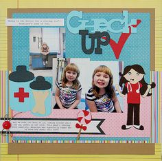 We love this Doctor Check Up scrapbook layout! #cricut