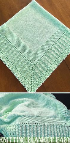 First Class examined knitting projects reference Free Baby Blanket Patterns, Afghan Crochet Patterns, Baby Knitting Patterns, Knitting Stitches, Free Knitting, Knitted Baby Blankets, Baby Blanket Crochet, Crochet Baby, Baby Shawl