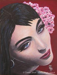 Pretty Woman Fine ART Print Custom Portrait от OWLSFLIGHTpaintings