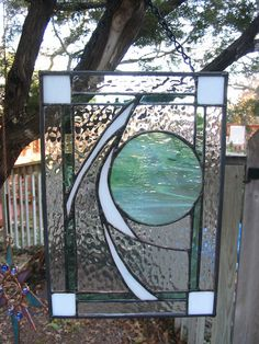 Stained Glass Panel   Abstract Space FREE by HillCountryGlass, $59.00