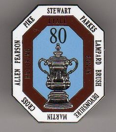 West Hams 1980 FA Cup Winners Limited Edition Badge-White, Claret and Blue in Sports Memorabilia, Football Memorabilia, Badges/ Pins | eBay