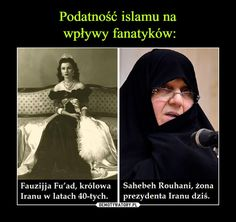 – Fauzijja Fu'ad, królowaSahebeh Rouhani, żonaIranu w latach 40-tych. prezydenta Iranu dziś.Fu a Funny Pick, Wtf Fun Facts, Tumblr Posts, Good To Know, True Stories, Sentences, Life Lessons, Funny Memes, Lol