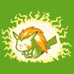 Blankachu T-shirt by 604 Republic Pokemon, Pikachu, Blanka Street Fighter, Latest Video Games, Game Google, Geek Games, Geek Out, Fighting Games, Legos