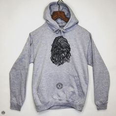 THE BEARHUG CO - Star Wars Chewbacca - Heather Grey Hoodie