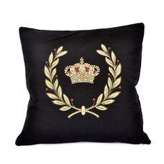Glitter crown cushion for HRH tush