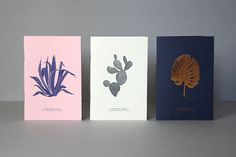 Lot of 3 books A6 letterpress & hot stamping by allthewaystosay
