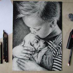 Мальчик с собакой  _____________________________________    #графика #графическиематериалы #карандаш #рисуноккарандашом #графическийрисунок #малыш #маленькиймальчик #любовь #ребенок #детскийпортрет #детский #собачка #щенок #портретпофото #рисунокмальчика #graphics #artist #pensil #pensildrawing #drawing #creativity #instaart #illustration #drawingpensil #scetches #littleboy #baby #art_works #scetch