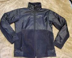 Columbia Steens Mountain Overlay Fleece Jacket Coat Black Large L 14 16 #Columbia #FleeceJacket #OutdoorsEveryday