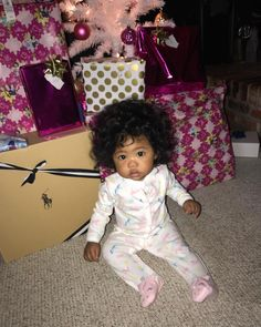 Bailei A'lyse - 9 months • Vietnamese & African American ♥️ Beautiful baby girl on Christmas morning (6 Mar 2017)