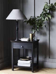 Tall Side Tables Bedroom Elegant Aldwych Tall Side Table In Warm Black Bedside Table Design, Bedside Table Lamps, Bedroom Lamps, Black Bedside Tables, Lamp Table, Bedroom Doors, Desk Lamp, Tall Side Table, Black Side Table