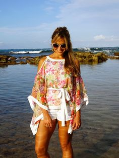 Faith, Caftan de chiffon estampado