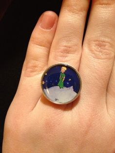 Little prince diy handmade ring with resin