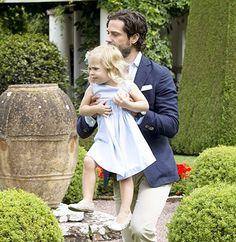 Carl Philip with Leonore july 2016 Solliden #svenskakungafamiljen…