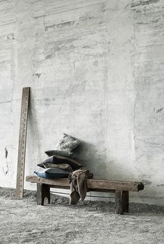 Buy MUUBS products online as a private customer. MUUBS' design creates a personal home that oozes authenticity. Wabi Sabi, Felt Cushion, Wooden Ruler, Bench Furniture, Kids Wallpaper, Raw Wood, Concrete Wall, Weathered Wood, Beautiful Wall