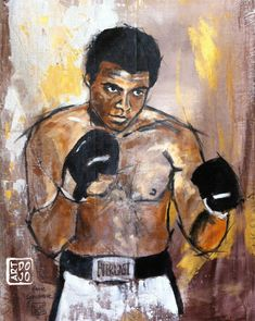 Portraits, Expositions, Dojo, Karate, Mohamed Ali, Creations, Prints, Painting, Sport